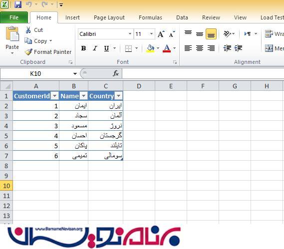 قرار یک صفحه Excel در درون PowerPoint یا Word در آفیس